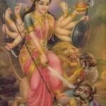Дурга — одно из имен Кали, супруги Шивы.